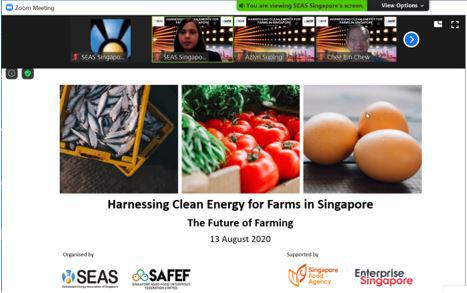 Harnessing Clean Energy for Farms in Singapore- 13 Aug 2020
