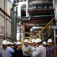 Tour of the biomass plant
